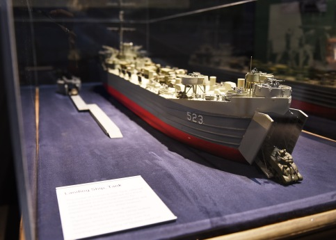 LST model on display at the U.S. Navy Seabee Museum.