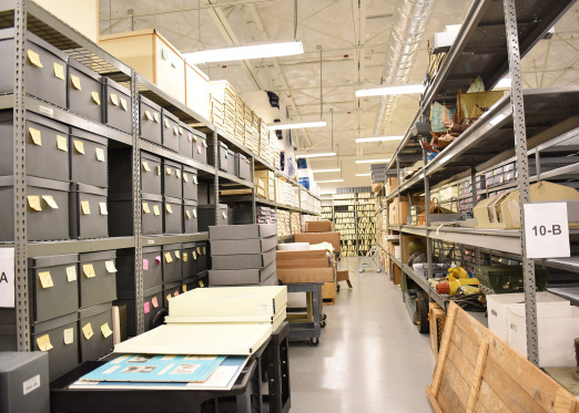 Behind the scenes view of the U.S. Navy Seabee Museum Collection Facility