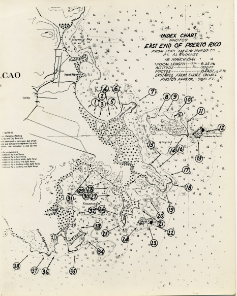 Map of Puerto Rico, 18 March 1941.