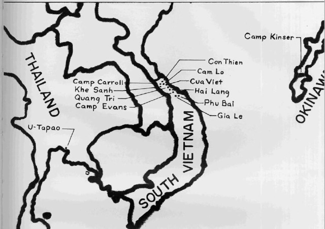 map of south vietnam with camps
