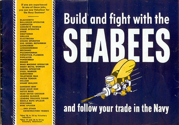 Build and fight with the Seabee and follow your trade in the Navy—booklet