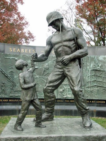 Memorial Seabee and child