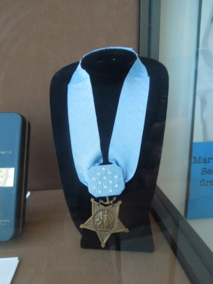 Shields's Medal of Honor on Display at the U. S. Navy Seabee Museum