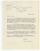 Letter written to Lt. Olson's widow by the Officer-in-Charge of CBD 1006 Lt. Cmdr. W. A. Burke Jr.