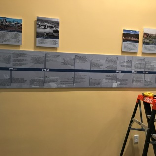 Installation graphic panels in the second CEC exhibit space.