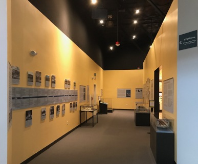 Entrance view of the CEC exhibit including from WWII until present CEC.