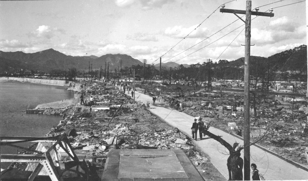 Hiroshima after Atomic Bomb. Circa 1945-46.