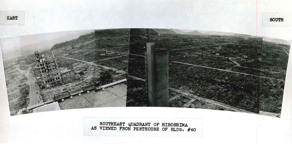 Southeast quadrant of Hiroshima as viewed from Penthouse of Bldg 40