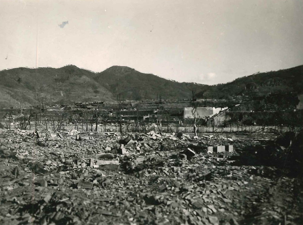 Photograph of Nagasaki, Japan, taken by 31st NCB in early 1946.