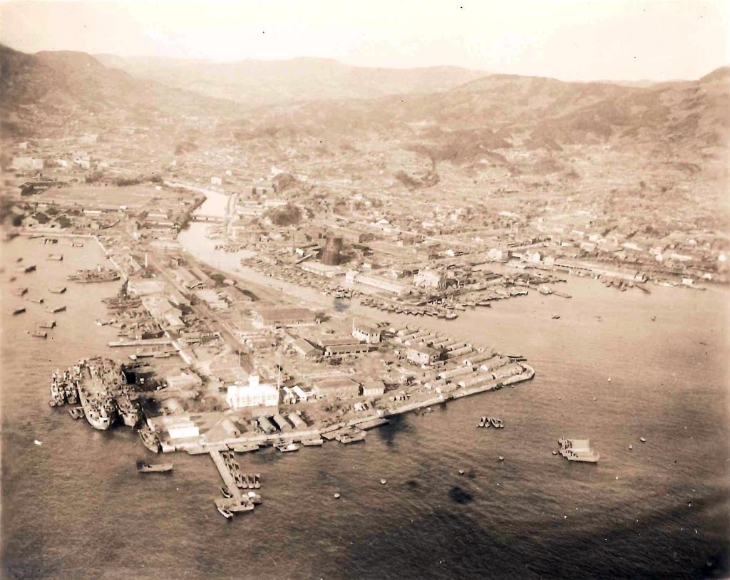 Port camp for the 31st NCB at Sasebo, Japan, January 1946.